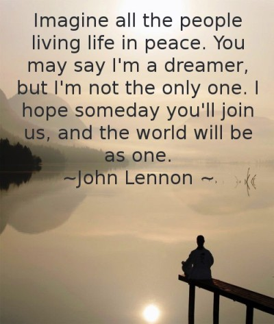 John Lennon Quotes Images Imagine All The People Living Life In Peace You May Say Im A Dreamer But Not Only One I Hope Someday Youll Join Us