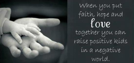 Inspirational Quotes About Faith And Love Alluring When You Put Faith Hope And Love Together You Can Raise Positive