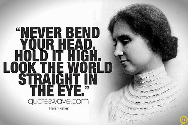 Image result for helen keller look the world in the eye