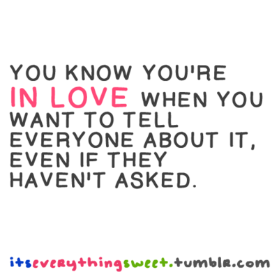 how you know if your in love