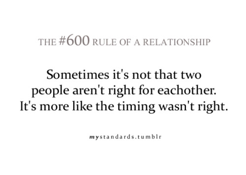 Sometimes It's Not That Two People Aren't Right For