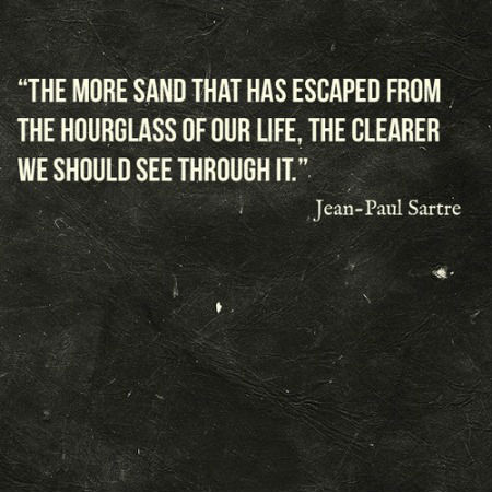 The more sand that has escaped from the hourglass of our ...