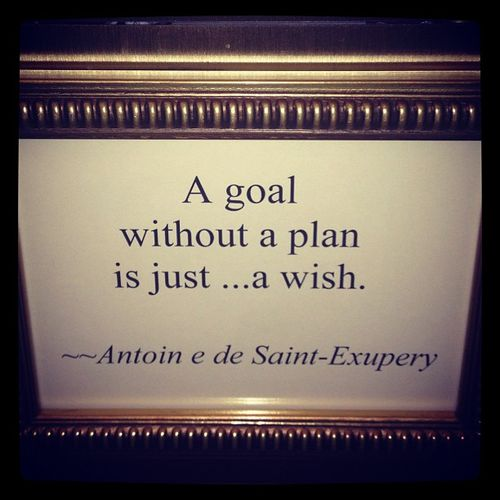 A Goal Without A Plan Is Just... A Wish.