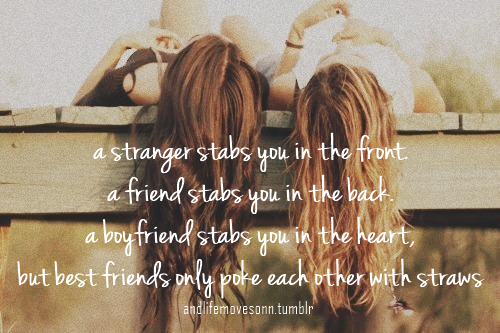 A Stranger Stabs You In The Front, A Friend Stabs You In