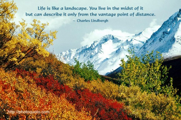 Life Is Like A Landscape You Live In The Midst Of It But Awesome Landscape Quotes