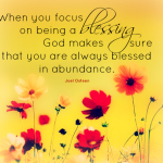 When you focus on being