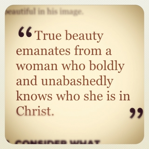 True beauty emanates from a woman