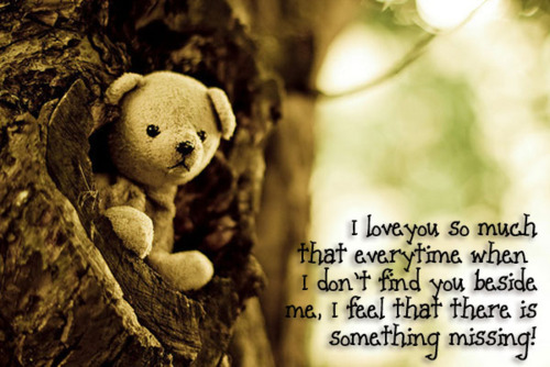 I Love You So Much That Everytime When I Don't Find You