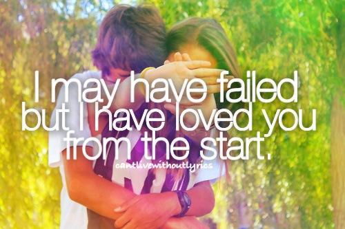 I Loved You From The Start Lyrics