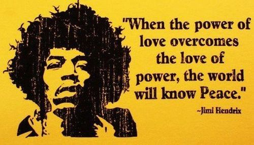 When the power of love overcomes the love of power, the ...