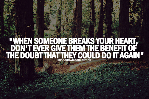 When Someone Breaks Your Heart, Don't Ever Give Them The