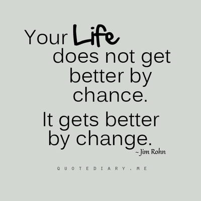 Quotes About Your Life Entrancing Your Life Does Not Get Betterchance It Gets Betterchange