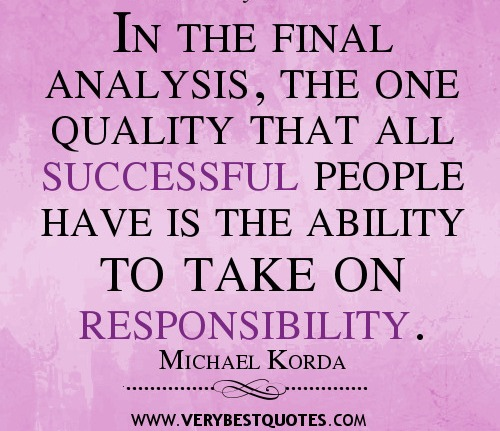 an analysis of the topic of the defining success by michael korda Success on any major scale requires you to accept responsibility     in the final analysis, the one quality that all successful people have is the ability to take on responsibility — michael korda.