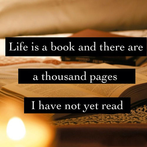Books With Quotes About Life Awesome Life Is A Book And There Are A Thousand Pages I Have Not