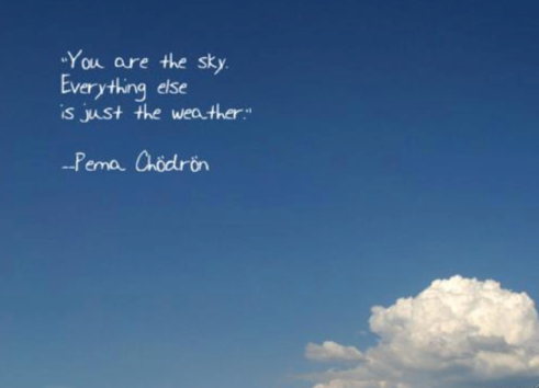 Pema Chodron Quotes You Are The Skyeverything Else Is Just The Weather Pema .