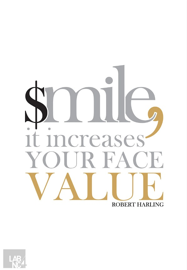 smile it increases your face value robert harling picture