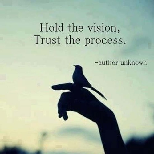 Quotes About Vision Pleasing Hold The Vision Trust The Process Unknown Picture Quotes