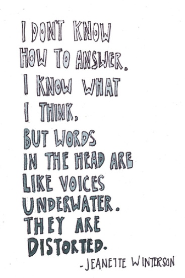 I don\'t know how to answer. I know what I think, but words ...
