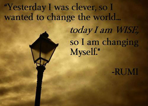 yesterday i was clever so i wanted to change the world