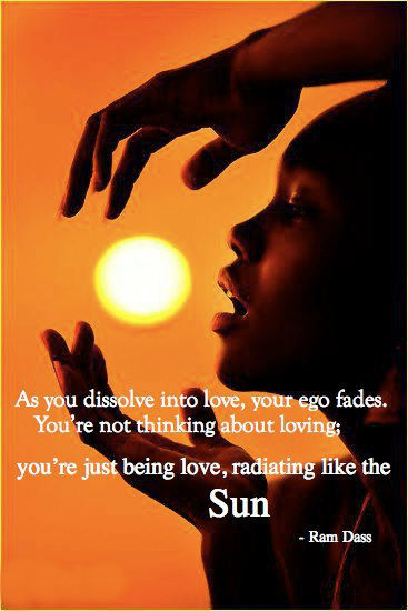 as you dissolve into love your ego fades you re not thinking